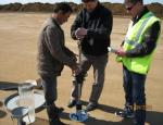 Compaction test of embankment