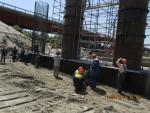 "Progress of work of Company ""OHL ZS"" JSC lot 8 (bridge over the river Ili km 283). August 2014."