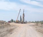 PK 729+17.6 Overpass, column concreting at pile work#4