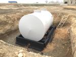 Выгребная емкость 25 м3 - Монтаж резервуара