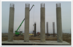 PK 485+73 support #3 Pier concreting