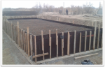 PK 485+73 support  #4 Fabrication formwork on pile cap